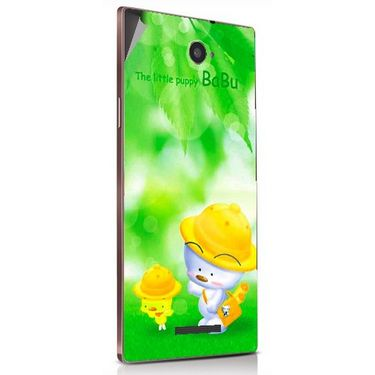 Snooky 48888 Digital Print Mobile Skin Sticker For Lava Magnum X604 - Green