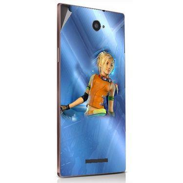 Snooky 48890 Digital Print Mobile Skin Sticker For Lava Magnum X604 - Blue