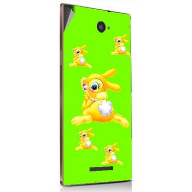 Snooky 48897 Digital Print Mobile Skin Sticker For Lava Magnum X604 - Green