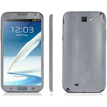 Snooky 18214 Mobile Skin Sticker For Samsung Galaxy Note 2 / N7100 - Silver
