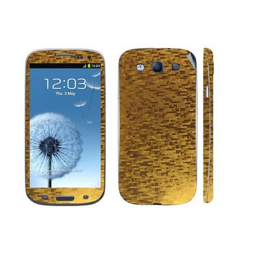 Snooky 18253 Mobile Skin Sticker For Samsung Galaxy S3 I9300 - Gold