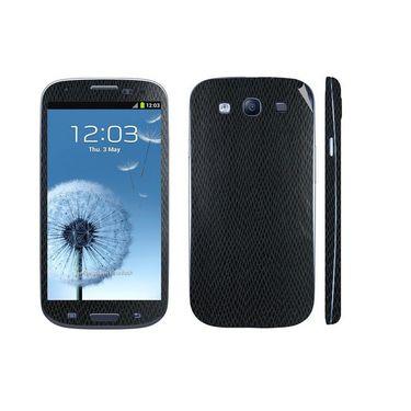 Snooky 18258 Mobile Skin Sticker For Samsung Galaxy S3 I9300 - Black