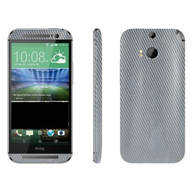 Snooky 18295 Mobile Skin Sticker For Htc One M8 - Silver