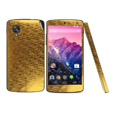 Snooky 18318 Mobile Skin Sticker For Lg Google Nexus 5 - Gold