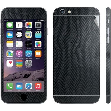 Snooky 18629 Mobile Skin Sticker For Apple Iphone 6 - Black