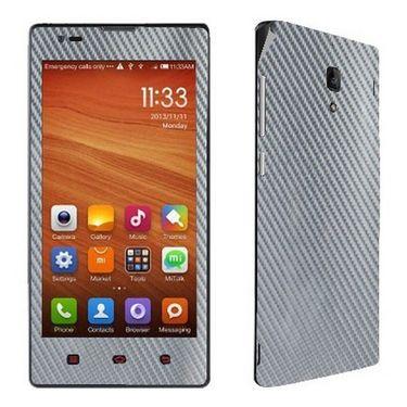 Snooky 18645 Mobile Skin Sticker For Xiaomi Redmi 1s - Silver