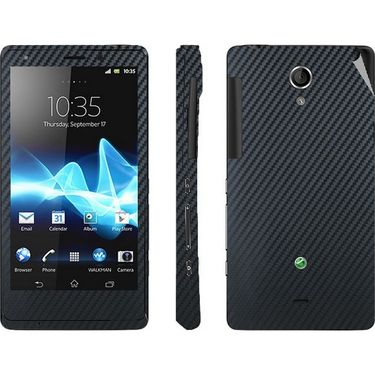 Snooky 18784 Mobile Skin Sticker For Sony Xperia T Lt30p - Black