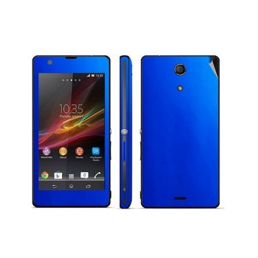 Snooky 20491 Mobile Skin Sticker For Sony Xperia Zr / M39h - Blue