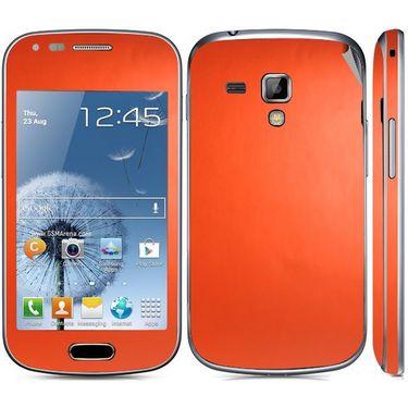 Snooky 20522 Mobile Skin Sticker For Samsung Galaxy S Duos 7562 - Orange
