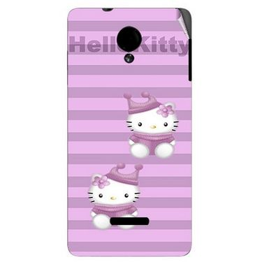 Snooky 42425 Digital Print Mobile Skin Sticker For Micromax Canvas Fun A74 - Pink