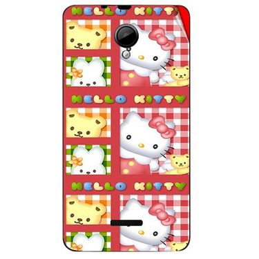 Snooky 42435 Digital Print Mobile Skin Sticker For Micromax Canvas Fun A76 - Red