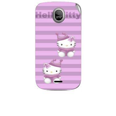 Snooky 42458 Digital Print Mobile Skin Sticker For Micromax Ninja A89 - Pink