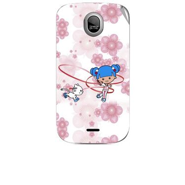 Snooky 42463 Digital Print Mobile Skin Sticker For Micromax Ninja A89 - White