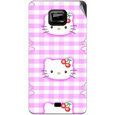 Snooky 42492 Digital Print Mobile Skin Sticker For Micromax Ninja A91 - Pink