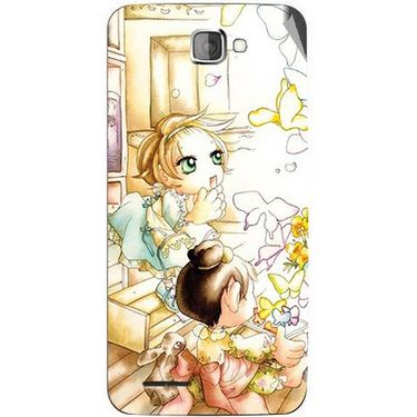 Snooky 42522 Digital Print Mobile Skin Sticker For Micromax Canvas Mad A94 - White