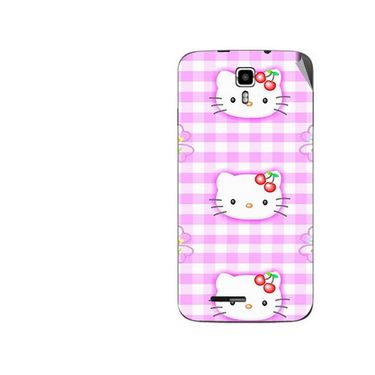 Snooky 42690 Digital Print Mobile Skin Sticker For Micromax Canvas Juice A177 - Pink