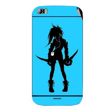 Snooky 42724 Digital Print Mobile Skin Sticker For Micromax Canvas Doodle 2 A240 - Blue