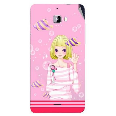 Snooky 42752 Digital Print Mobile Skin Sticker For Micromax Canvas Nitro A310 - Pink