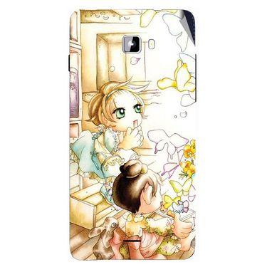 Snooky 42764 Digital Print Mobile Skin Sticker For Micromax Canvas Nitro A311 - White