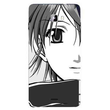 Snooky 42769 Digital Print Mobile Skin Sticker For Micromax Canvas Nitro A311 - Grey