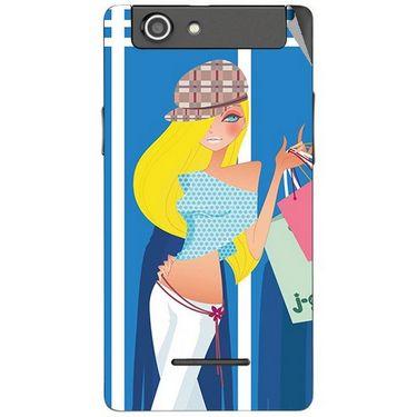 Snooky 42861 Digital Print Mobile Skin Sticker For XOLO A500s - Blue