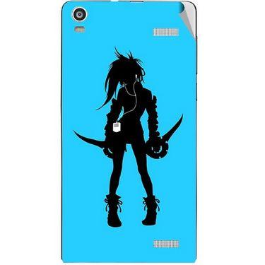 Snooky 42922 Digital Print Mobile Skin Sticker For XOLO A1000S - Blue