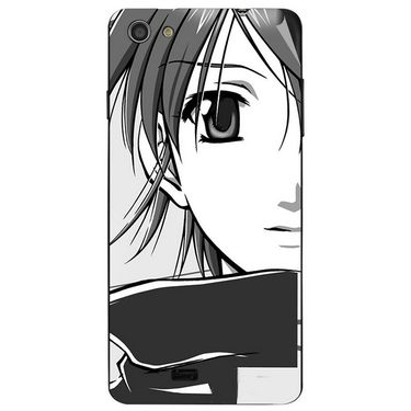 Snooky 43055 Digital Print Mobile Skin Sticker For Xolo Q900s - Grey