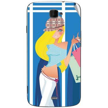 Snooky 43070 Digital Print Mobile Skin Sticker For Xolo Q1000 Opus - Blue
