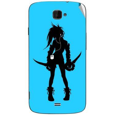Snooky 43076 Digital Print Mobile Skin Sticker For Xolo Q1000 Opus - Blue