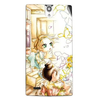 Snooky 43083 Digital Print Mobile Skin Sticker For Xolo Q1010i - White