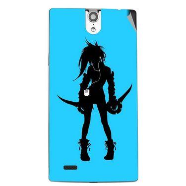 Snooky 43087 Digital Print Mobile Skin Sticker For Xolo Q1010i - Blue