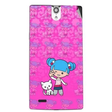 Snooky 43089 Digital Print Mobile Skin Sticker For Xolo Q1010i - Pink