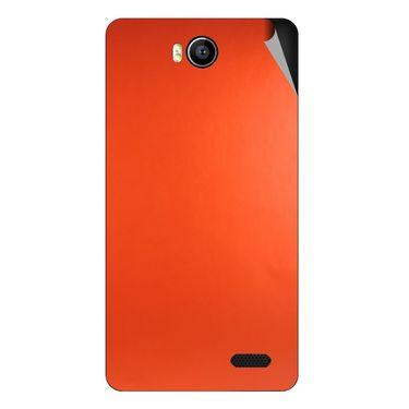 Snooky 43166 Mobile Skin Sticker For Intex Aqua 4.5e - Orange