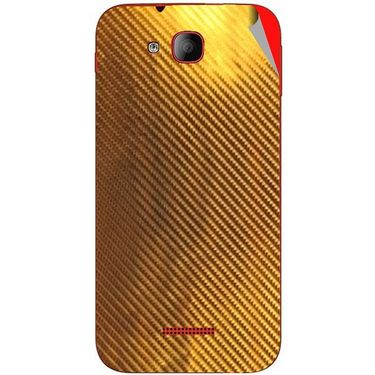 Snooky 43185 Mobile Skin Sticker For Intex Aqua CURVE - Golden