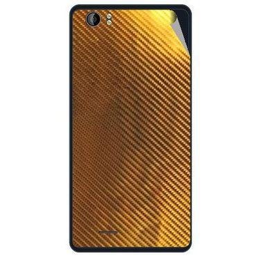 Snooky 43209 Mobile Skin Sticker For Intex Aqua Desire - Golden