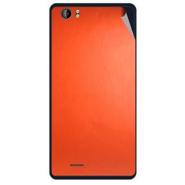 Snooky 43214 Mobile Skin Sticker For Intex Aqua Desire - Orange