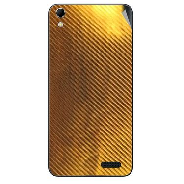 Snooky 43413 Mobile Skin Sticker For Intex Aqua Q3 - Golden