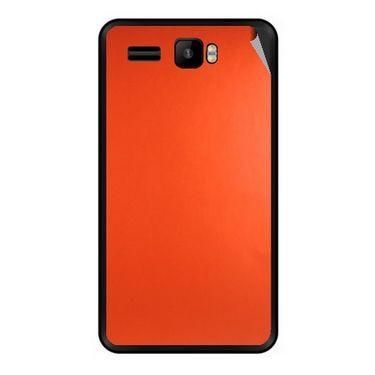 Snooky 43430 Mobile Skin Sticker For Intex Aqua R3 - Orange