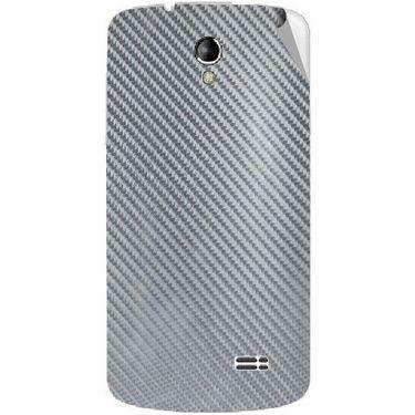 Snooky 43506 Mobile Skin Sticker For Intex Aqua SUPERB - silver