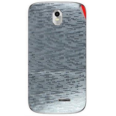 Snooky 43733 Mobile Skin Sticker For Lava Iris 402 Plus - silver