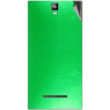 Snooky 43792 Mobile Skin Sticker For Lava Iris 504Q Plus - Green