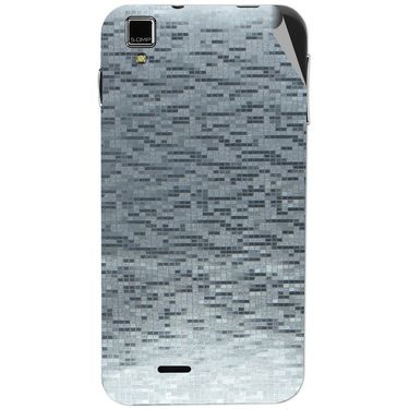 Snooky 43865 Mobile Skin Sticker For Lava Iris 405 Plus - silver