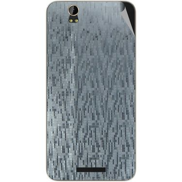 Snooky 43889 Mobile Skin Sticker For Lava Iris X1 - silver