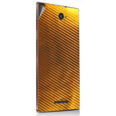 Snooky 43917 Mobile Skin Sticker For Lava Magnum X604 - Golden