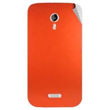 Snooky 44030 Mobile Skin Sticker For Micromax Canvas Lite A92 - Orange