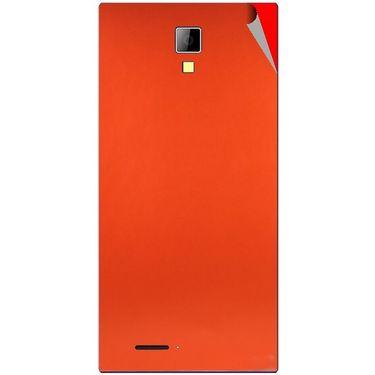 Snooky 44078 Mobile Skin Sticker For Micromax Canvas Xpress A99 - Orange