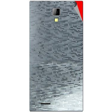 Snooky 44081 Mobile Skin Sticker For Micromax Canvas Xpress A99 - silver