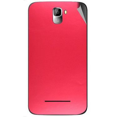 Snooky 44122 Mobile Skin Sticker For Micromax Canvas Entice A105 - Red