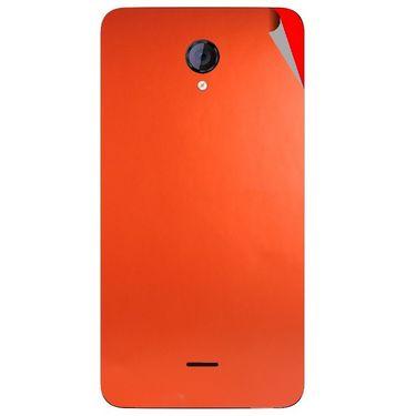 Snooky 44138 Mobile Skin Sticker For Micromax Canvas Unite 2 A106 - Orange