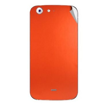Snooky 44258 Mobile Skin Sticker For Micromax Canvas 4 A210 - Orange